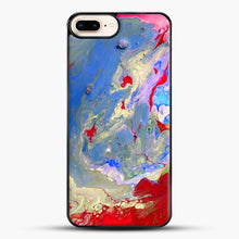 Load image into Gallery viewer, Paint Marbling iPhone 8 Plus Case, Black Plastic Case | JoeYellow.com
