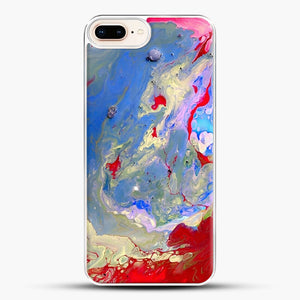 Paint Marbling iPhone 8 Plus Case, White Plastic Case | JoeYellow.com