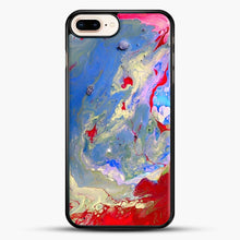 Load image into Gallery viewer, Paint Marbling iPhone 8 Plus Case, Black Rubber Case | JoeYellow.com