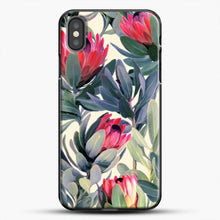 Load image into Gallery viewer, Painted Protea iPhone Case, Black Plastic Case | JoeYellow.com