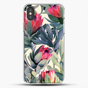 Painted Protea iPhone Case, White Plastic Case | JoeYellow.com