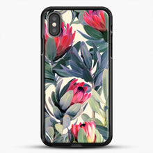 Load image into Gallery viewer, Painted Protea iPhone Case, Black Rubber Case | JoeYellow.com