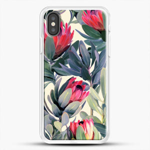 Painted Protea iPhone Case, White Rubber Case | JoeYellow.com