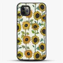 Load image into Gallery viewer, Painted Sunflowers iPhone 11 Pro Max Case, Black Plastic Case | JoeYellow.com