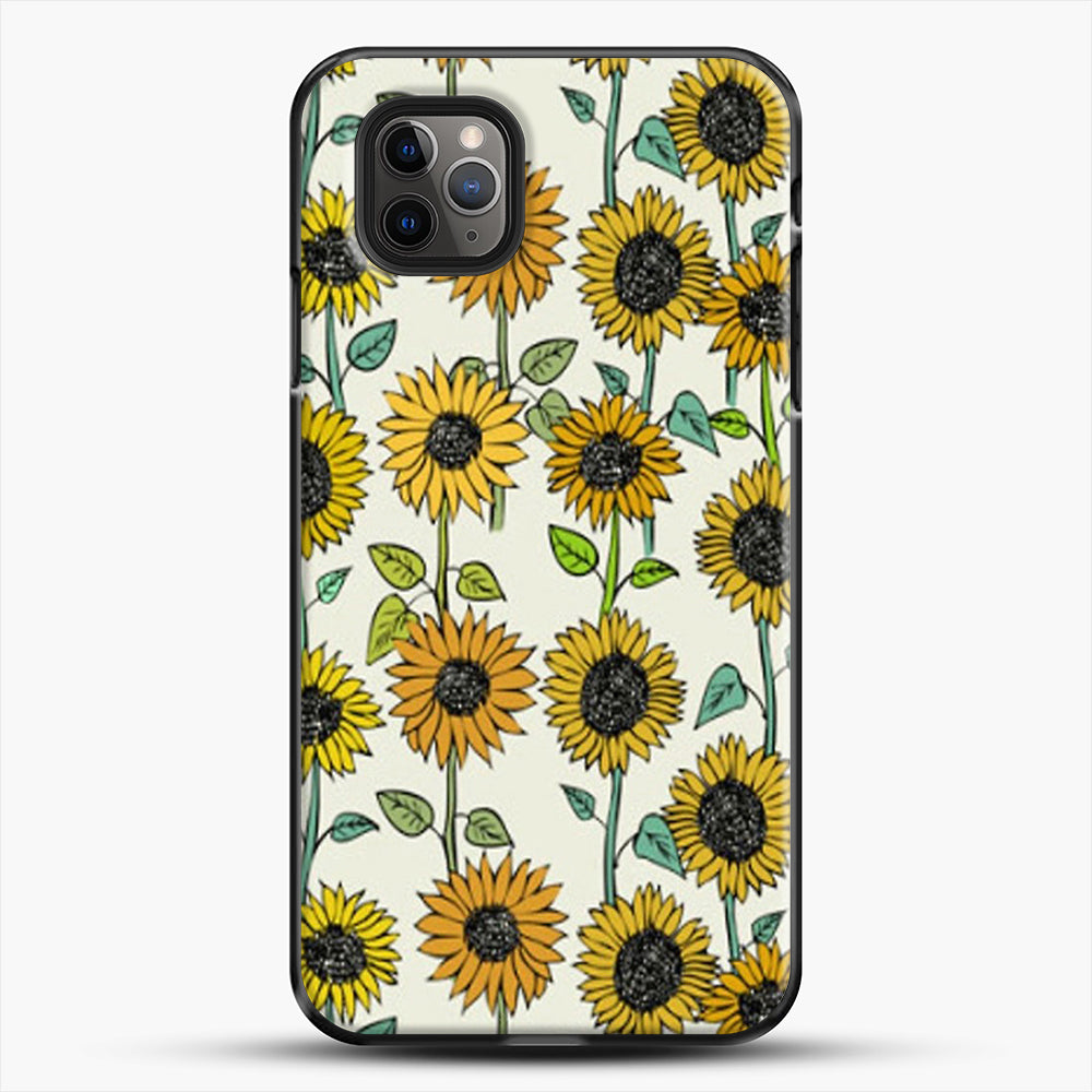 Painted Sunflowers iPhone 11 Pro Max Case, Black Plastic Case | JoeYellow.com