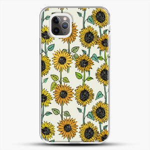 Painted Sunflowers iPhone 11 Pro Max Case, White Plastic Case | JoeYellow.com