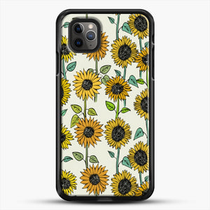 Painted Sunflowers iPhone 11 Pro Max Case, Black Rubber Case | JoeYellow.com