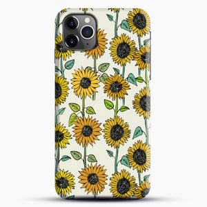 Painted Sunflowers iPhone 11 Pro Max Case, Black Snap 3D Case | JoeYellow.com