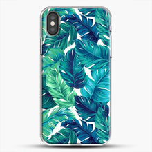 Load image into Gallery viewer, Palm Leaves Tropical iPhone Case, White Plastic Case | JoeYellow.com