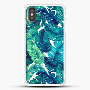 Palm Leaves Tropical iPhone Case, White Rubber Case | JoeYellow.com