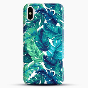 Palm Leaves Tropical iPhone Case, Black Snap 3D Case | JoeYellow.com