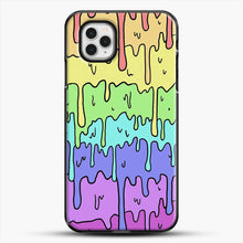 Load image into Gallery viewer, Pastel Kawaii Melting Rainbow iPhone 11 Pro Case, Black Plastic Case | JoeYellow.com