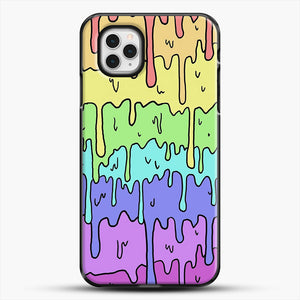 Pastel Kawaii Melting Rainbow iPhone 11 Pro Case, Black Plastic Case | JoeYellow.com