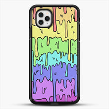 Load image into Gallery viewer, Pastel Kawaii Melting Rainbow iPhone 11 Pro Case, Black Rubber Case | JoeYellow.com