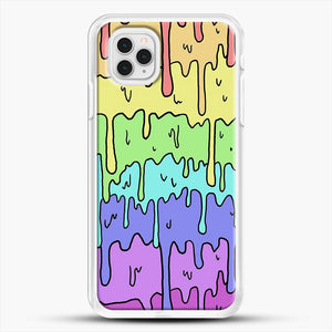 Pastel Kawaii Melting Rainbow iPhone 11 Pro Case, White Rubber Case | JoeYellow.com