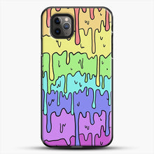 Load image into Gallery viewer, Pastel Kawaii Melting Rainbow iPhone 11 Pro Max Case, Black Plastic Case | JoeYellow.com