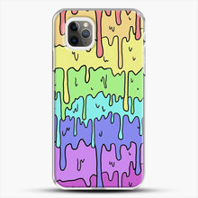 Load image into Gallery viewer, Pastel Kawaii Melting Rainbow iPhone 11 Pro Max Case, White Plastic Case | JoeYellow.com