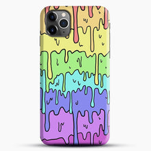Load image into Gallery viewer, Pastel Kawaii Melting Rainbow iPhone 11 Pro Max Case, Black Snap 3D Case | JoeYellow.com