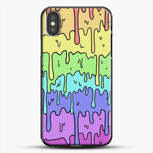 Load image into Gallery viewer, Pastel Kawaii Melting Rainbow iPhone X Case, Black Plastic Case | JoeYellow.com