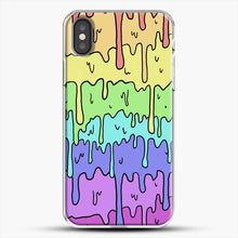 Load image into Gallery viewer, Pastel Kawaii Melting Rainbow iPhone X Case, White Plastic Case | JoeYellow.com