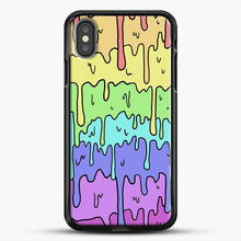 Load image into Gallery viewer, Pastel Kawaii Melting Rainbow iPhone X Case, Black Rubber Case | JoeYellow.com