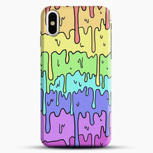 Load image into Gallery viewer, Pastel Kawaii Melting Rainbow iPhone X Case, Black Snap 3D Case | JoeYellow.com
