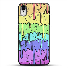 Load image into Gallery viewer, Pastel Kawaii Melting Rainbow iPhone XR Case, Black Plastic Case | JoeYellow.com