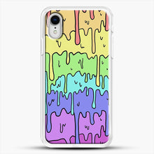 Load image into Gallery viewer, Pastel Kawaii Melting Rainbow iPhone XR Case, White Rubber Case | JoeYellow.com
