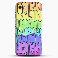 Load image into Gallery viewer, Pastel Kawaii Melting Rainbow iPhone XR Case, Black Snap 3D Case | JoeYellow.com