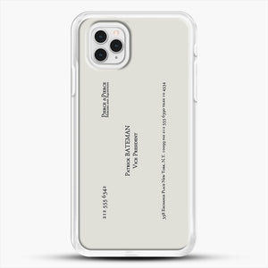 Patrick Bateman Business Card iPhone 11 Pro Case, White Rubber Case | JoeYellow.com