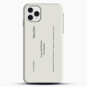 Patrick Bateman Business Card iPhone 11 Pro Case, Black Snap 3D Case | JoeYellow.com