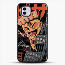Load image into Gallery viewer, Pizza Kong iPhone 11 Case, Black Plastic Case | JoeYellow.com