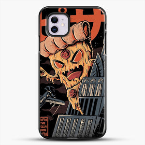 Pizza Kong iPhone 11 Case, Black Plastic Case | JoeYellow.com