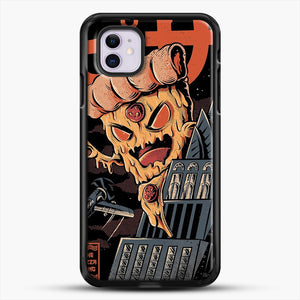 Pizza Kong iPhone 11 Case, Black Rubber Case | JoeYellow.com