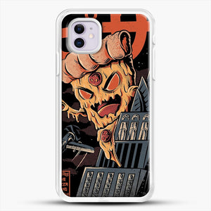 Pizza Kong iPhone 11 Case, White Rubber Case | JoeYellow.com