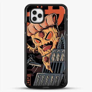 Pizza Kong iPhone 11 Pro Case, Black Rubber Case | JoeYellow.com
