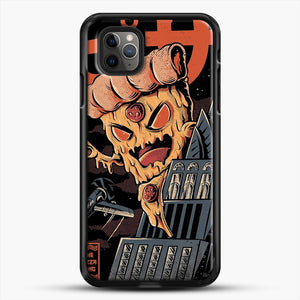 Pizza Kong iPhone 11 Pro Max Case, Black Rubber Case | JoeYellow.com