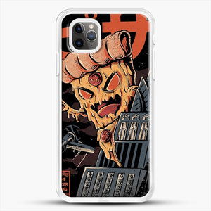 Pizza Kong iPhone 11 Pro Max Case, White Rubber Case | JoeYellow.com