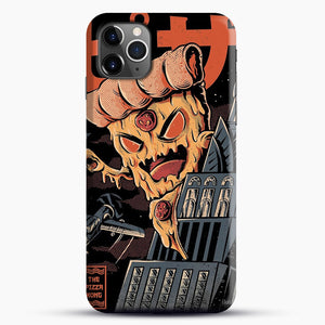 Pizza Kong iPhone 11 Pro Max Case, Black Snap 3D Case | JoeYellow.com