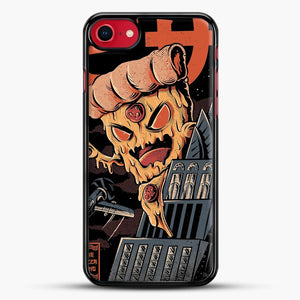 Pizza Kong iPhone 7 Case, Black Rubber Case | JoeYellow.com