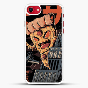 Pizza Kong iPhone 7 Case, White Rubber Case | JoeYellow.com
