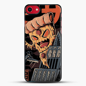 Pizza Kong iPhone 8 Case, Black Plastic Case | JoeYellow.com