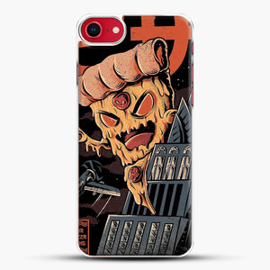 Pizza Kong iPhone 8 Case, White Plastic Case | JoeYellow.com