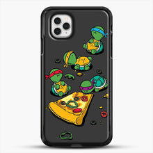 Load image into Gallery viewer, Pizza Lover iPhone 11 Pro Case, Black Rubber Case | JoeYellow.com