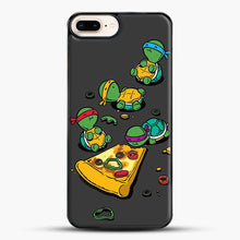 Load image into Gallery viewer, Pizza Lover iPhone 7 Plus Case, Black Plastic Case | JoeYellow.com