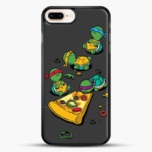 Load image into Gallery viewer, Pizza Lover iPhone 7 Plus Case, Black Rubber Case | JoeYellow.com