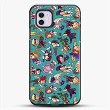 Load image into Gallery viewer, Plus Ultra Pattern iPhone 11 Case, Black Plastic Case | JoeYellow.com