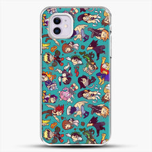 Load image into Gallery viewer, Plus Ultra Pattern iPhone 11 Case, White Plastic Case | JoeYellow.com