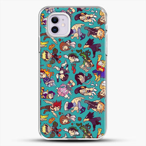 Plus Ultra Pattern iPhone 11 Case, White Plastic Case | JoeYellow.com