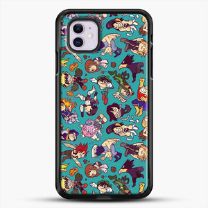 Plus Ultra Pattern iPhone 11 Case, Black Rubber Case | JoeYellow.com